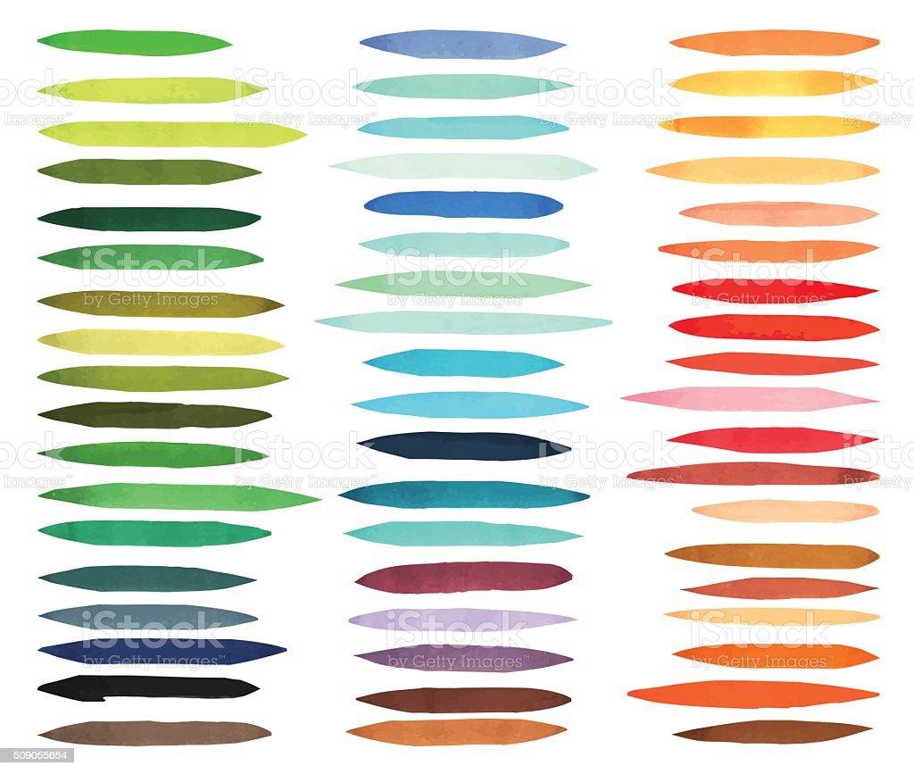 Streifenpinsel Farbe Gezeichnet Mit Japan Marker Stilvolle Elemente ...