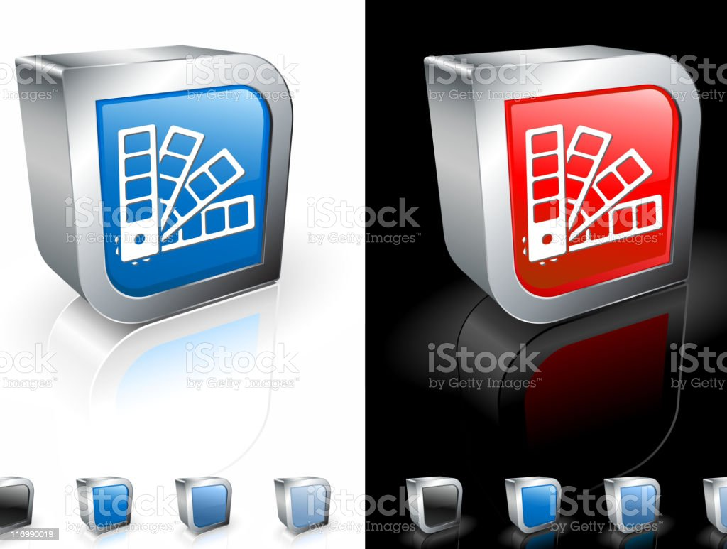 color swatch book 3D royalty free vector art royalty-free stock vector art