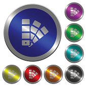 Color swatch luminous coin-like round color buttons