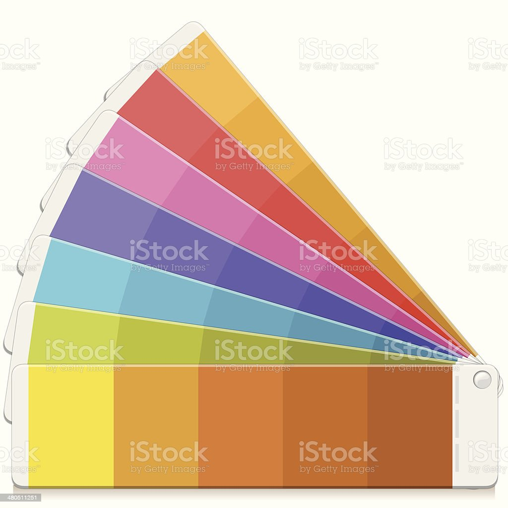 Color swatch Palette vector art illustration