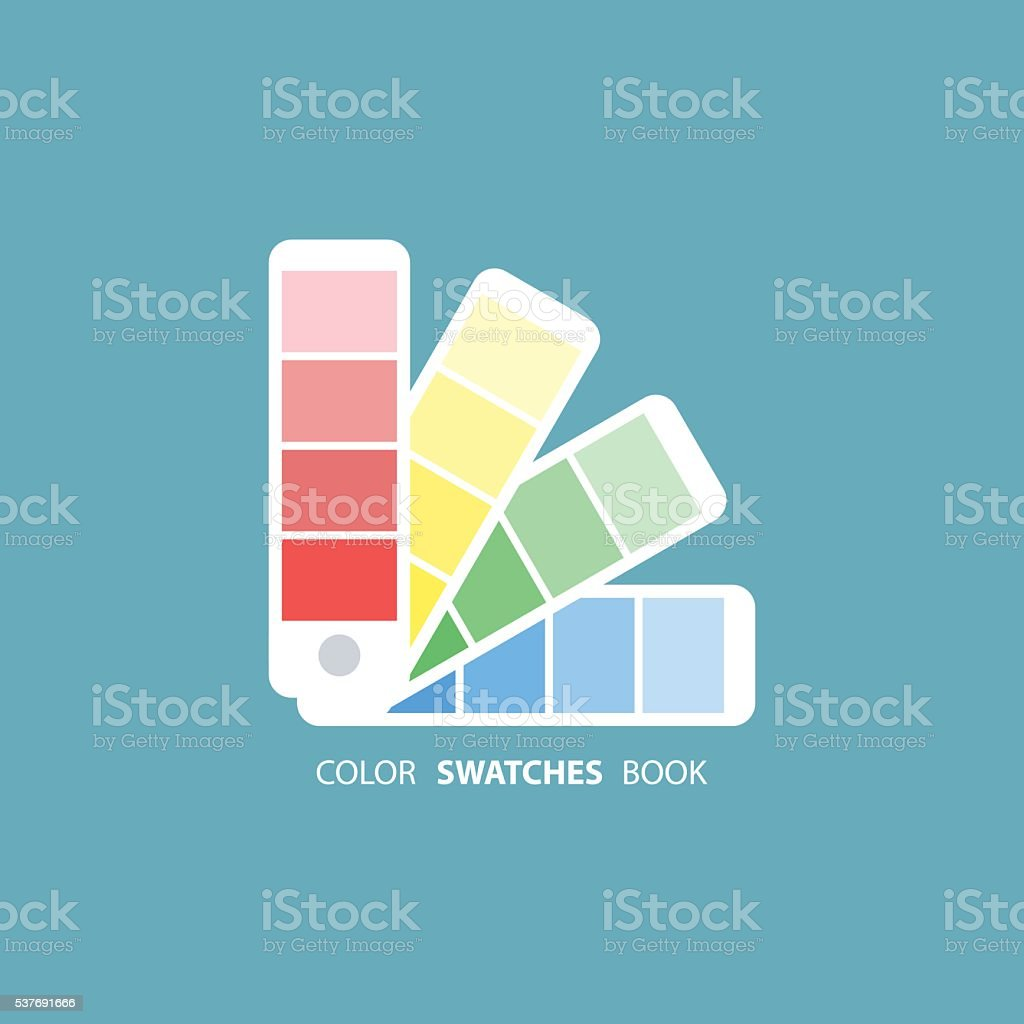 Color swatches book. Color palette guide vector art illustration
