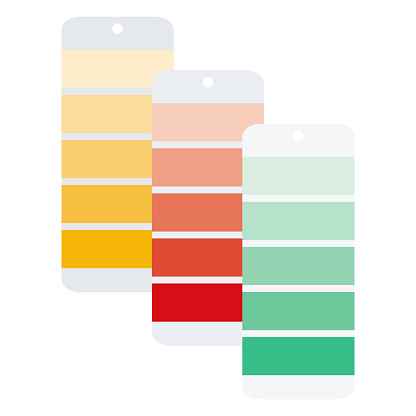 Color Swatches Icon on Transparent Background