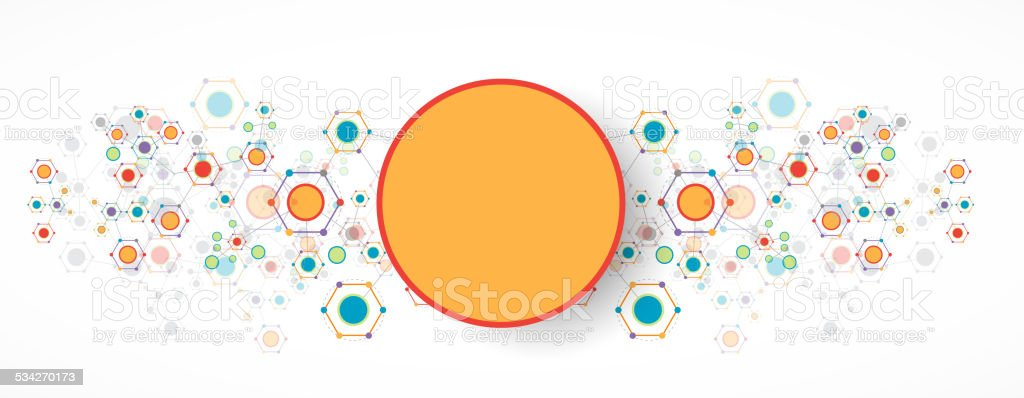 Color technology communication background vector art illustration