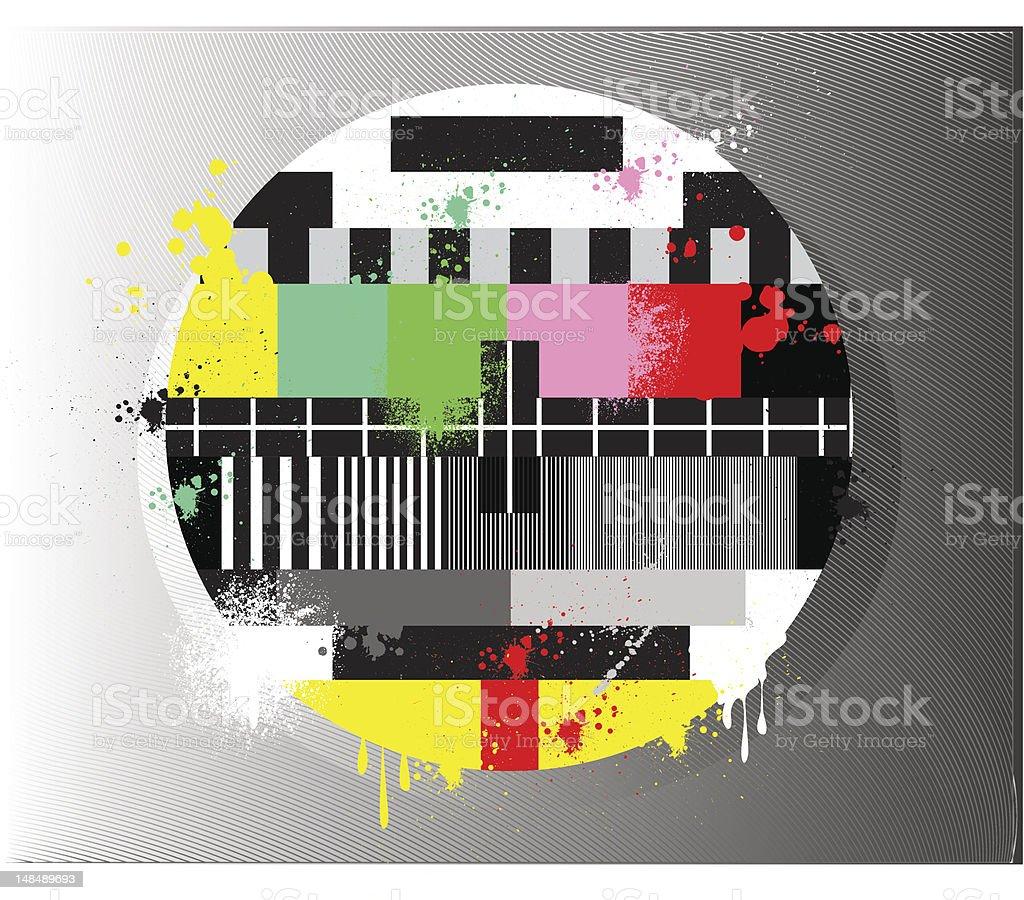 La Prueba De Color Para Televisión Estilo Grunge - Arte vectorial de ...
