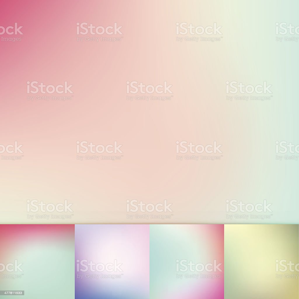 Color Trends Blurry Pastel Colors Soft Gradient Vector Background Collection vector art illustration
