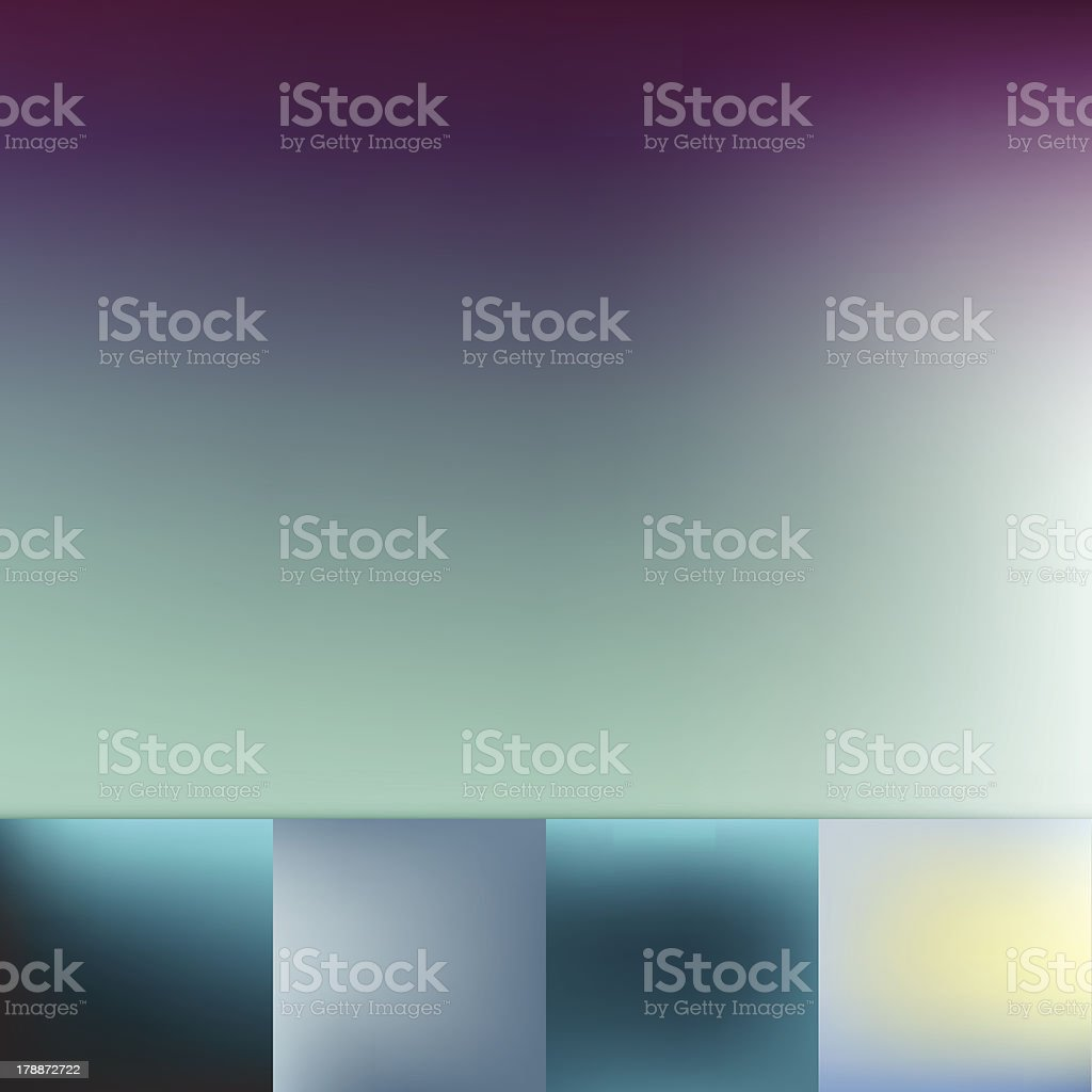 Color Trends Defocus Cold Colors Soft Vignette Vector Background Collection royalty-free stock vector art