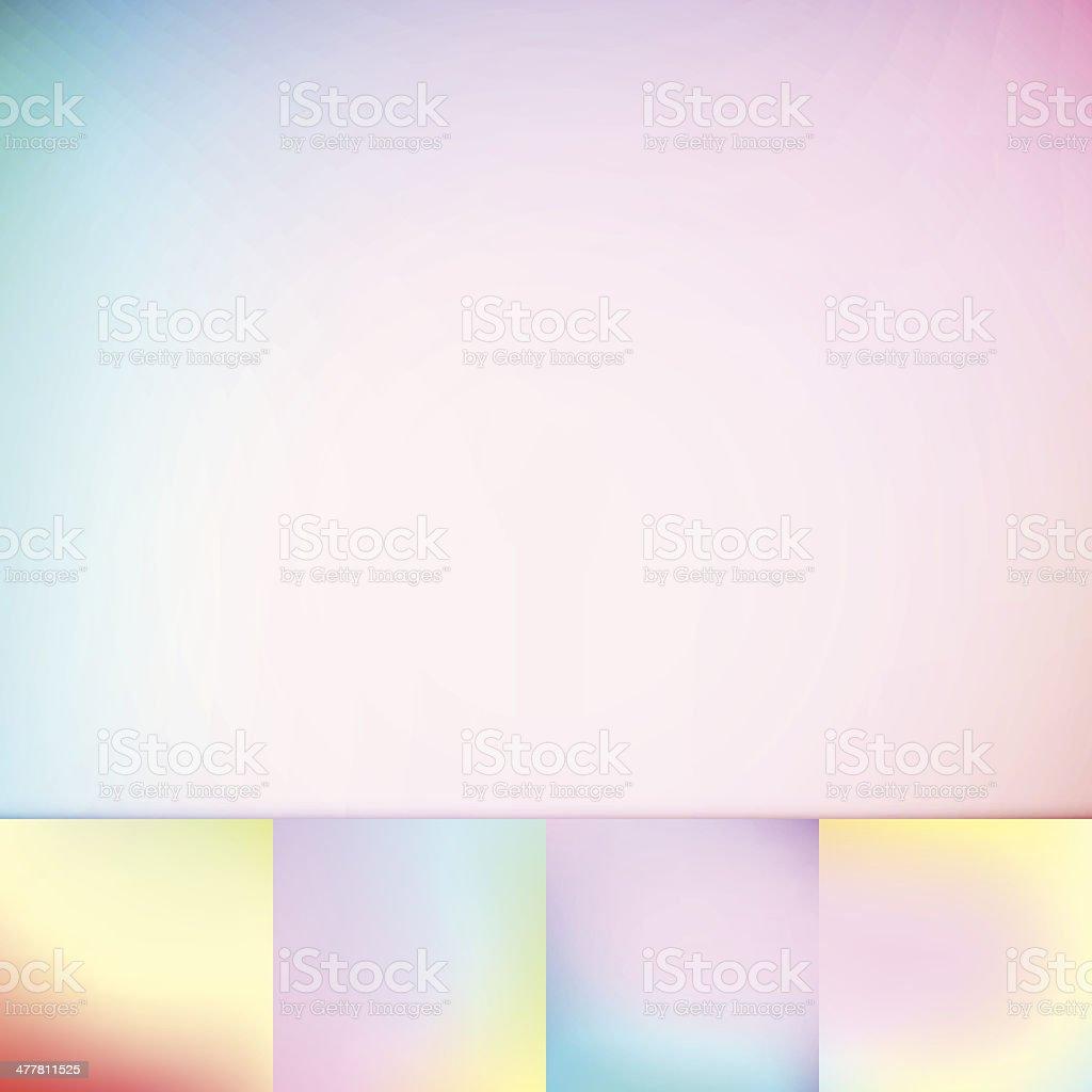 Color Trends Defocus Pastel Colors Soft Vignette Vector Background Collection royalty-free stock vector art