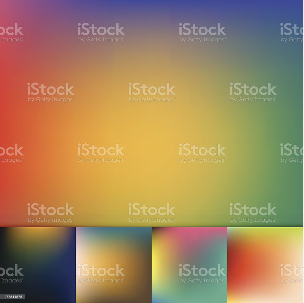 Color Trends Defocus Vibrant Colors Soft Gradient Vector Background Collection royalty-free stock vector art