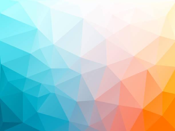 illustrazioni stock, clip art, cartoni animati e icone di tendenza di color triangular abstract background - ice on fire