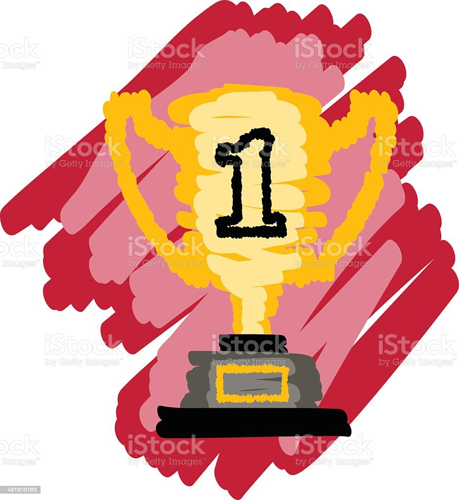 Color Trophy royalty-free color trophy stock vector art & more images of award