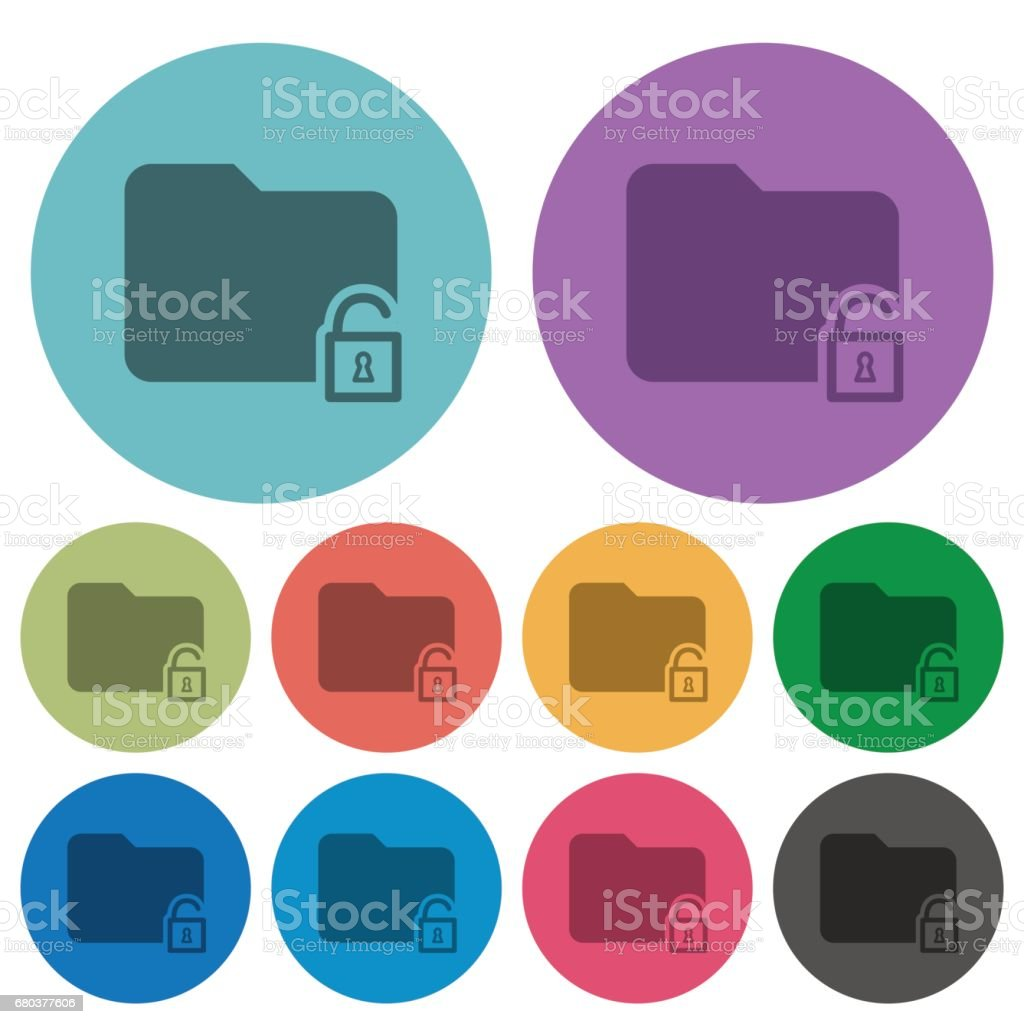 Color unlock folder flat icons royalty-free color unlock folder flat icons stock vector art & more images of applying