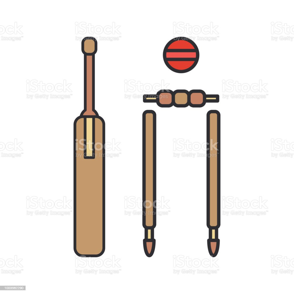 Color vector icon wooden gate, ball, goal. Sport equipment success...