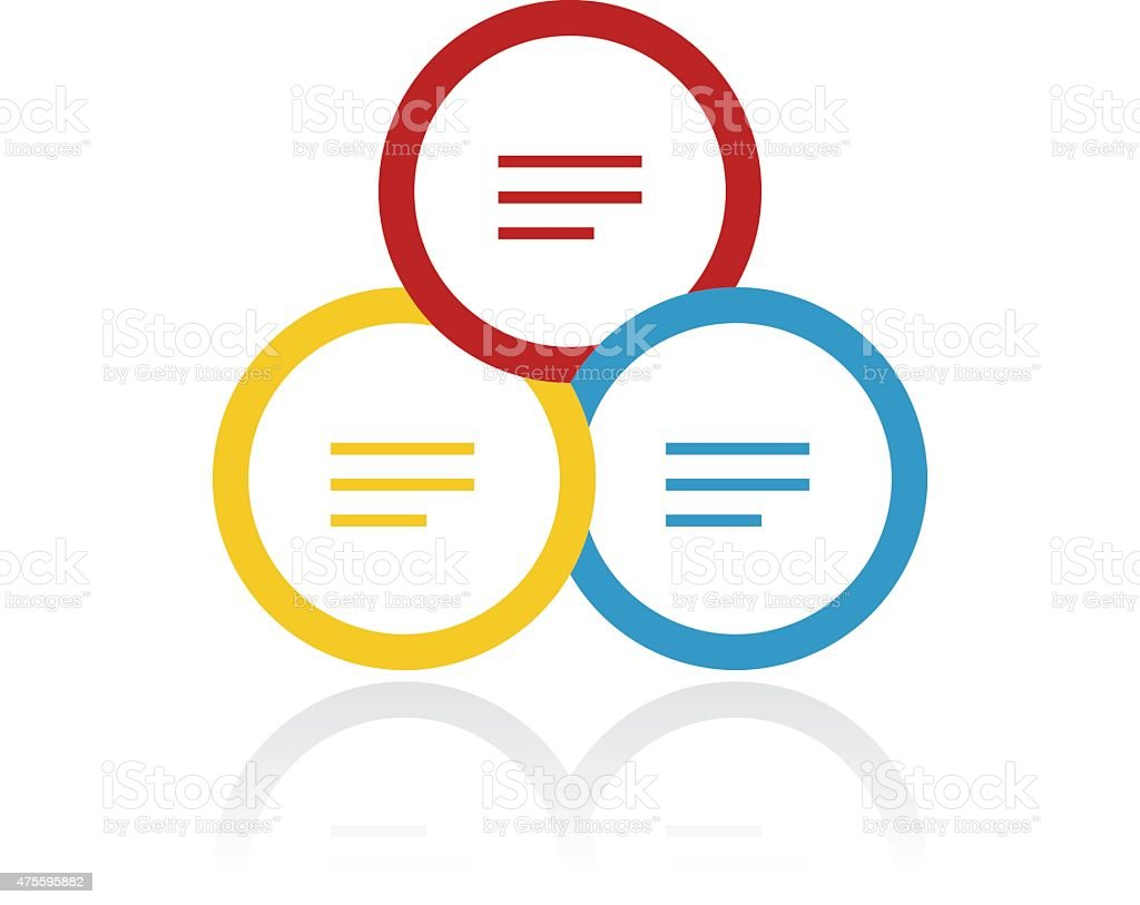 Color venn diagram icon stock vector art 475595882 istock chart computer data flow chart internet color venn diagram pooptronica Image collections