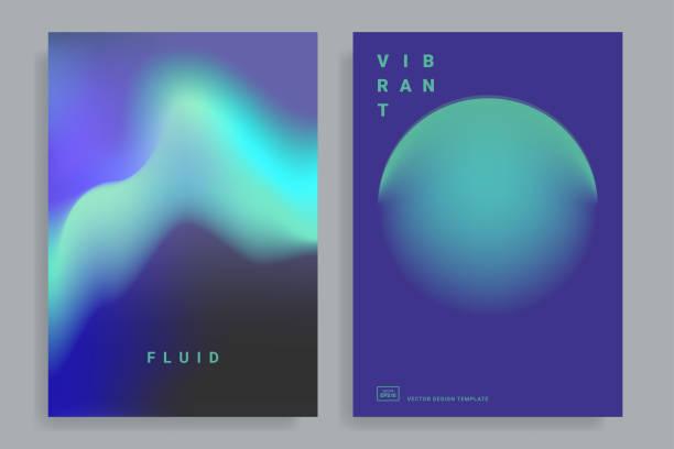 illustrazioni stock, clip art, cartoni animati e icone di tendenza di color vibrant gradient background - aurora polare