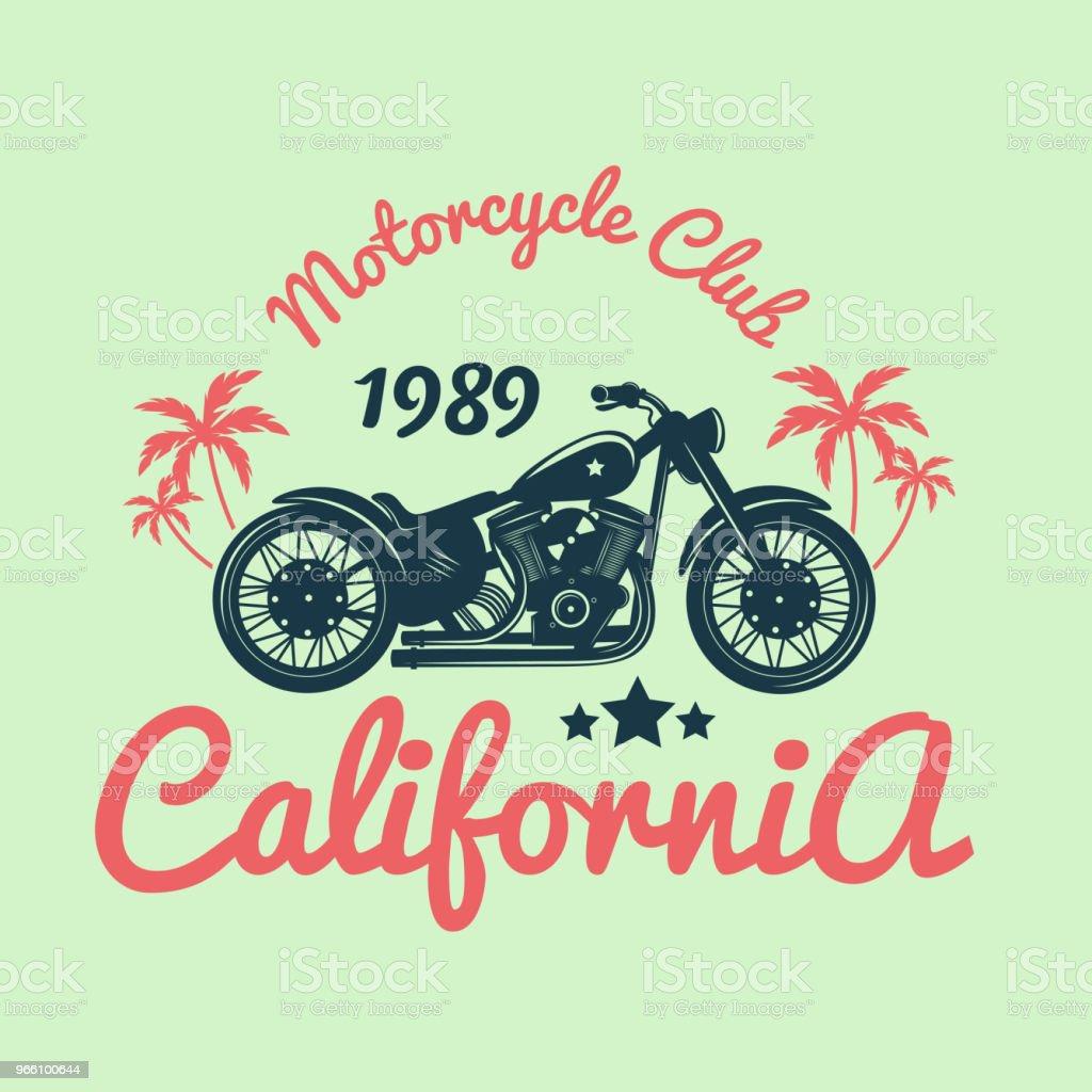 Color Vintage Motorcycle Emblem.Vector illustration - Royalty-free Badge stock vector