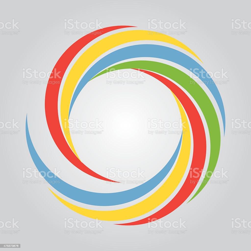 Color Waves vector art illustration