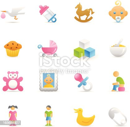 16 color icons representing different Baby symbols.