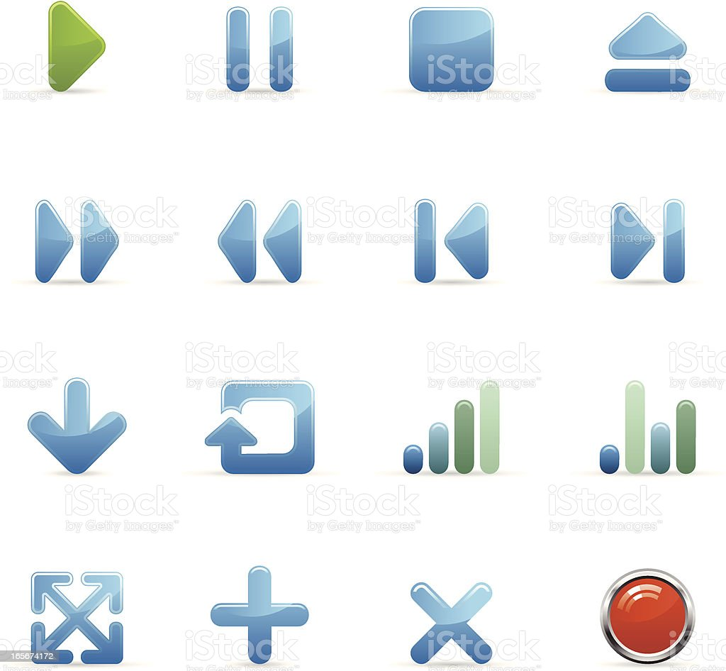 Color Web Icons - Interface royalty-free stock vector art