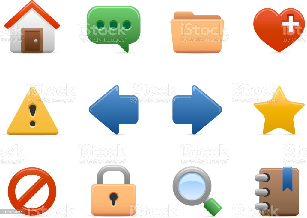 color web icons royalty-free color web icons stock vector art & more images of arrow symbol