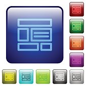 Color web layout square buttons