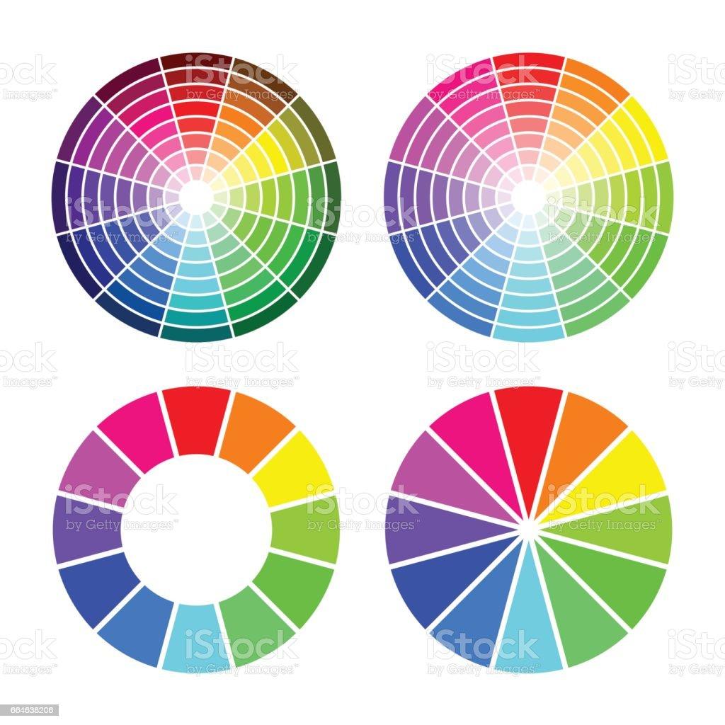 RGB color wheel 12 color,  set on white background vector art illustration