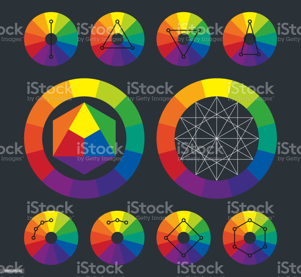 Color Wheel Complementary Schemes In Vector Stock Vector Art More