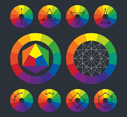 Kleurenwiel Aanvullende Regelingen In Vector Stockvectorkunst en meer beelden van Aansteken