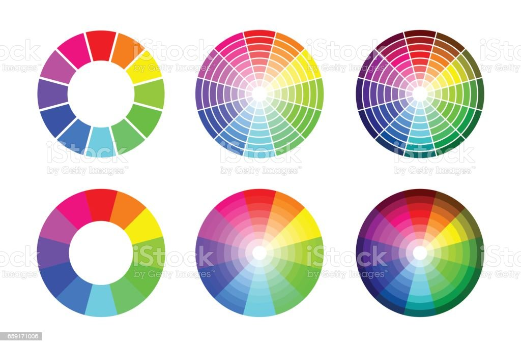 Color Wheel From 12 Color Rgb Vector Set Stock Vector Art More