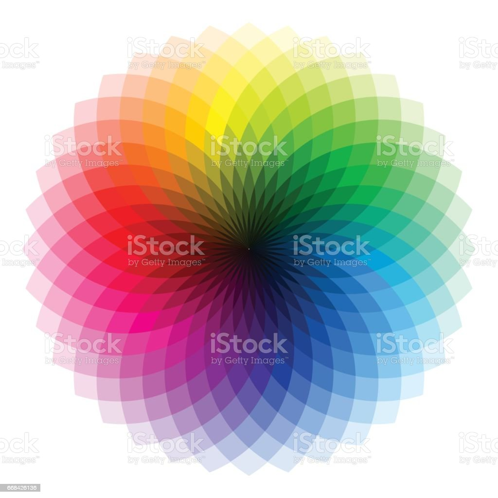 Color wheel - illustration vector art illustration