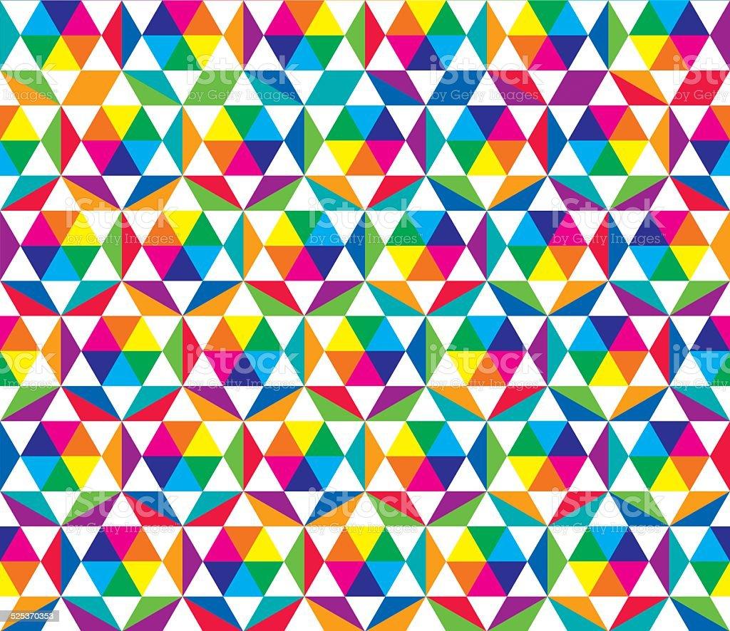Color wheel kaleidoscope (Seamless pattern) vector art illustration