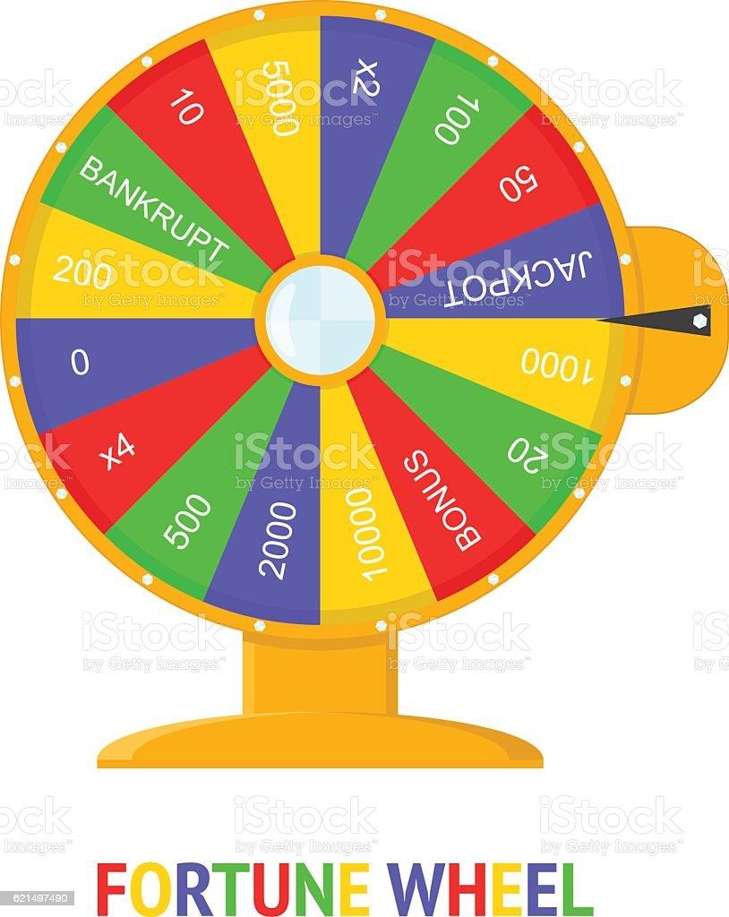 Color Wheel Of Fortune. Vector color wheel of fortune vector - immagini vettoriali stock e altre immagini di affari royalty-free