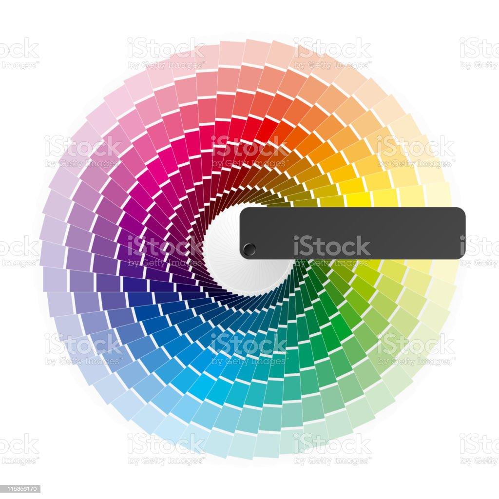 Color wheel royalty-free stock vector art
