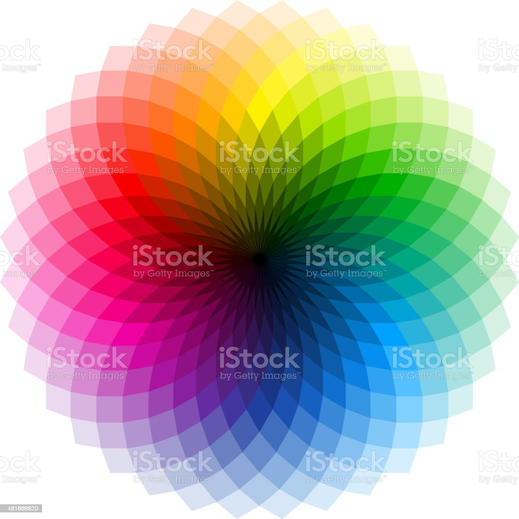 Color wheel vector art illustration