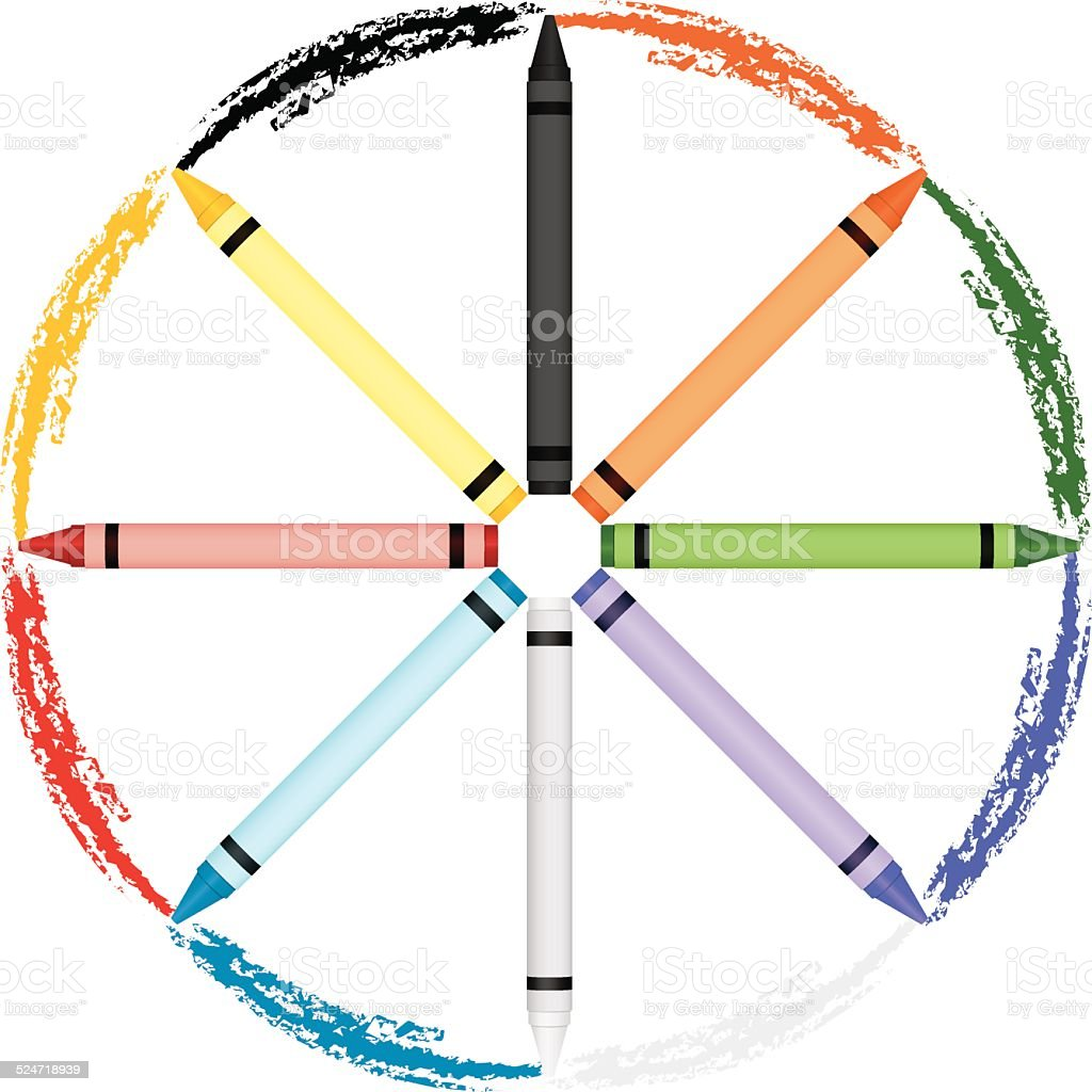 Royalty Free Color Wheel Lesson Clip Art Vector Images