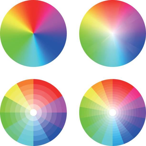 illustrazioni stock, clip art, cartoni animati e icone di tendenza di color wheel - tetrade