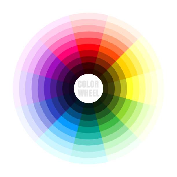 Color wheel. Vector illustration Color wheel. Vector illustration fabric swatch stock illustrations