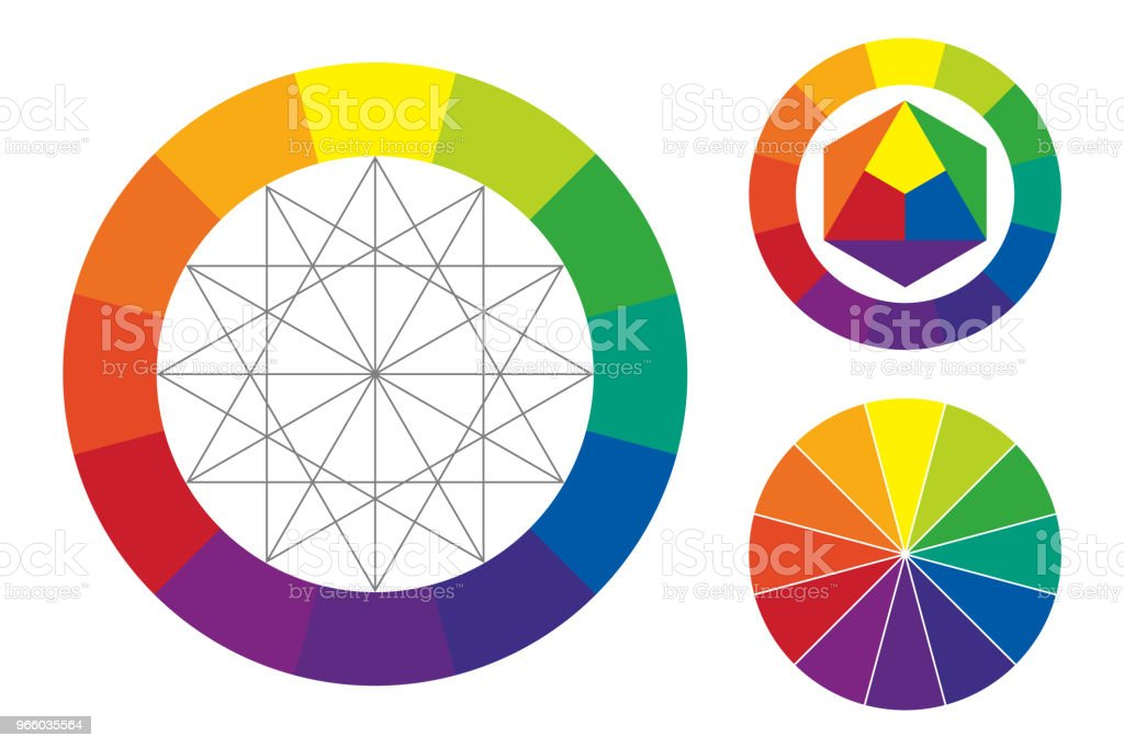 Color Wheel Vector Illustration Stock Vector Art More Images Of