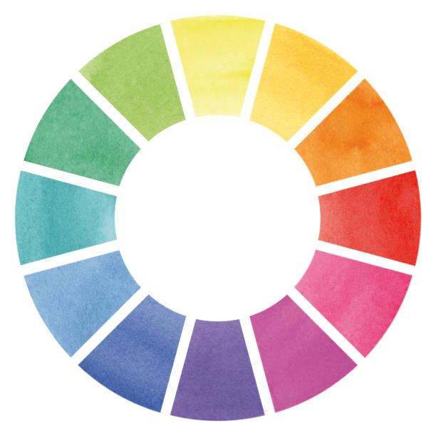 Color wheel – watercolor illustration vector art illustration