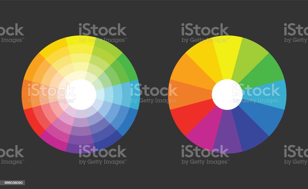color wheel with 12 colors in gradiation - Royalty-free Art stock vector