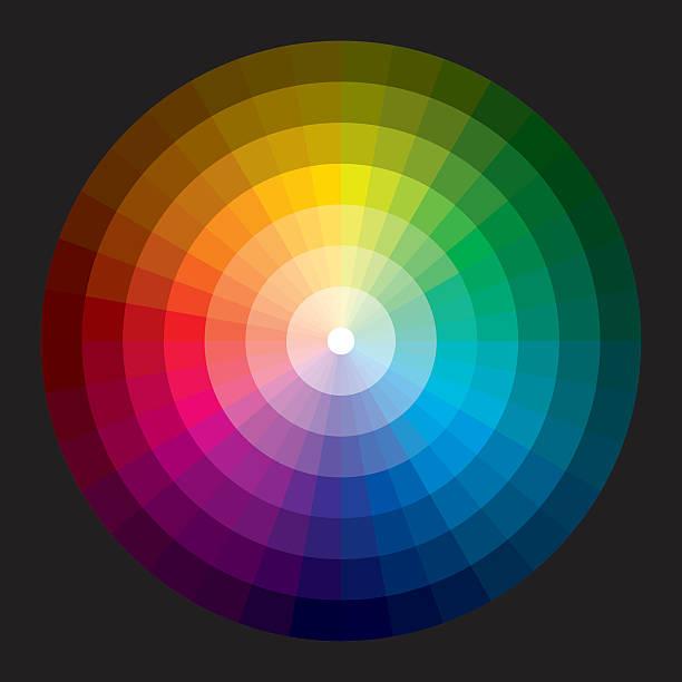 bildbanksillustrationer, clip art samt tecknat material och ikoner med color wheel with graduation from white to black - spektrum