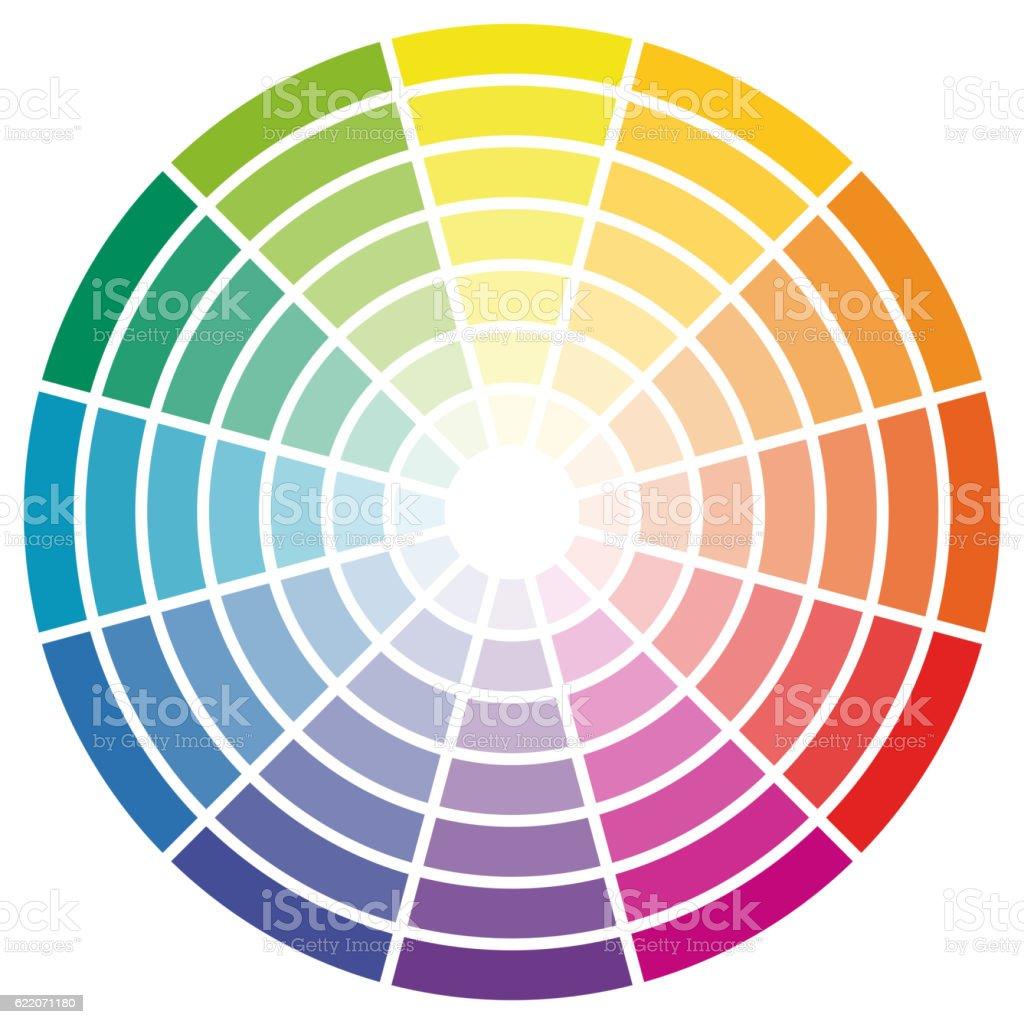 spesso Ruota Dei Colori Con Tonalità Dodici Illustrazione 622071180 | iStock WG07