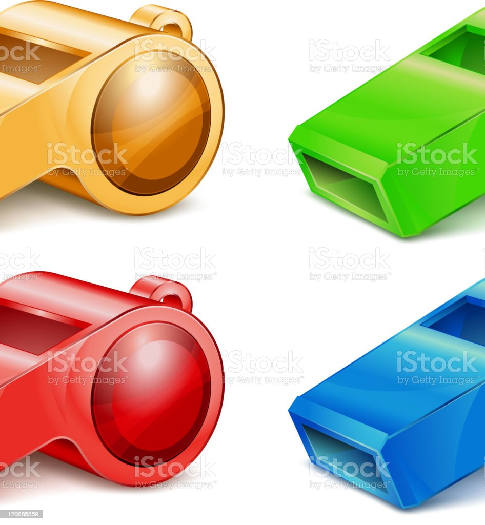 color whistle royalty-free stock vector art