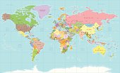 Color world map