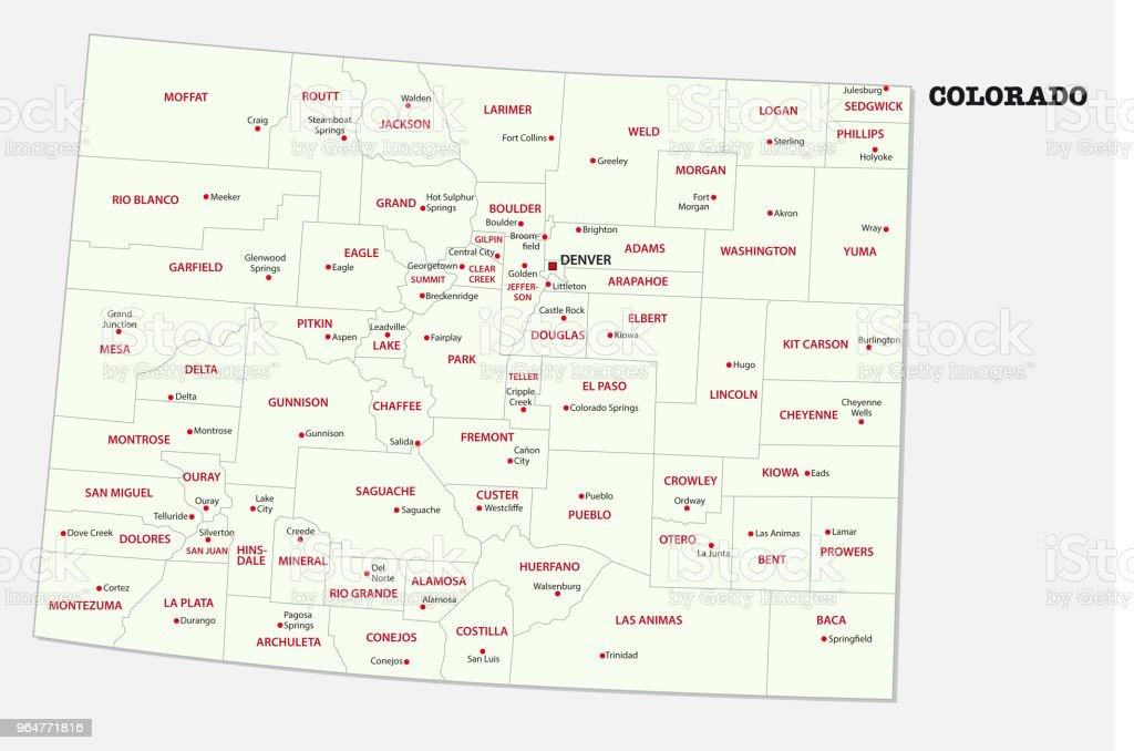 colorado administrative and political map royalty-free colorado administrative and political map stock vector art & more images of aspen - colorado
