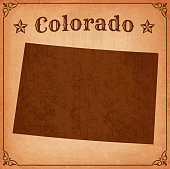 Colorado Grunge Map with Frame