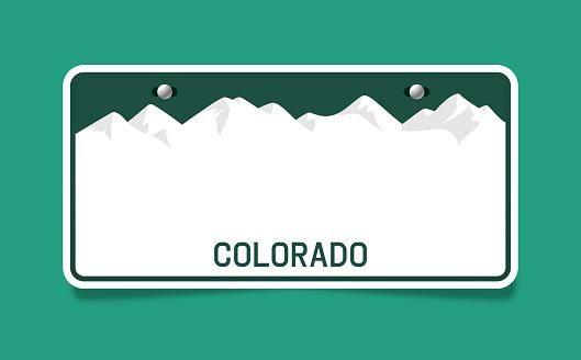 Colorado License Plate Template