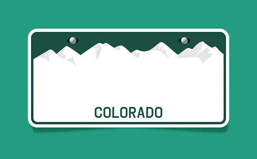 Colorado state license plate concept with area for your copy.