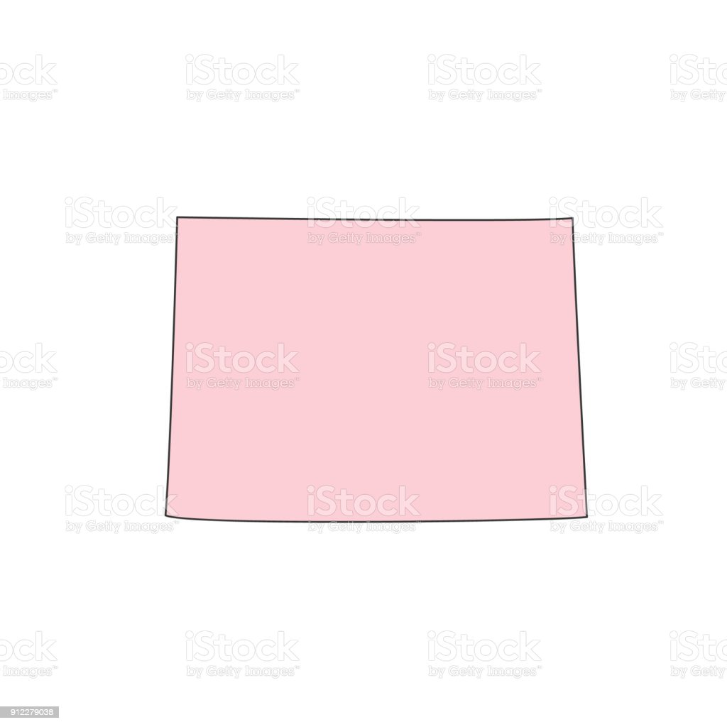 Colorado Map Isolated On White Background Silhouette Colorado Usa