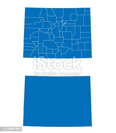 istock Colorado map 1215861994