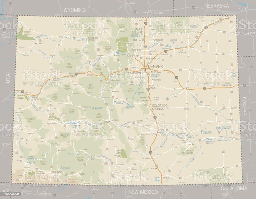 Colorado Map royalty-free stock vector art